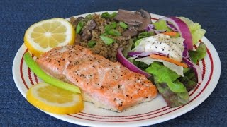 How To Bake Marinated Salmon In The Toaster Oven~easy