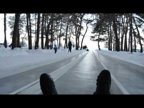 Ледяная Горка Спуск  100 км /ч  Отдых в Егорьевском районе