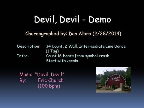 Devil, Devil Line Dance Demo