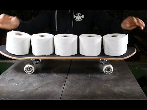 How to make skateboard from toilet paper using hydraulic press