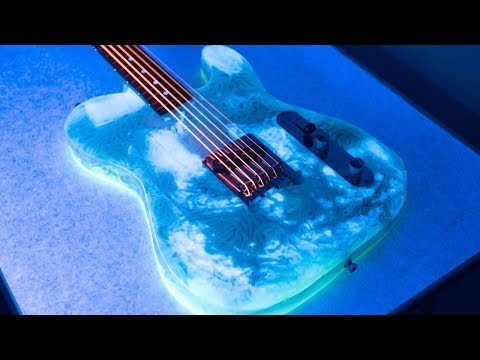 Guy Creates Glow In The Dark Noodle Guitar