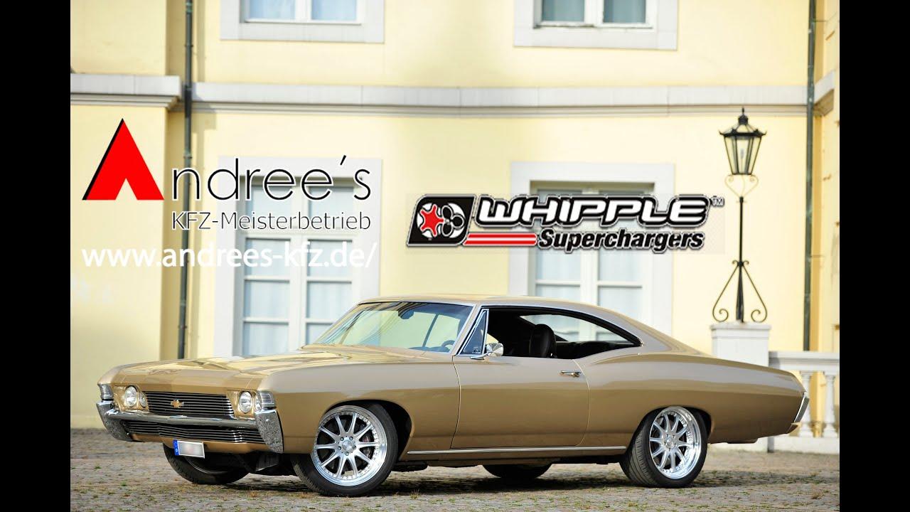 Chevrolet Impala 1968 Restomod Kompressorumbau mit Whipple Superchargers