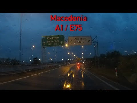 A1/E75 Driving in Macedonia 2x Speed