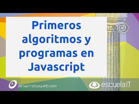 Primeros algoritmos y programas en Javascript