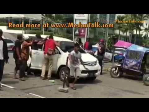 Sweeping Bentrok Becak dan Grab Gojek Medan