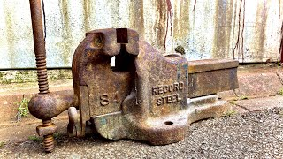 Vintage Record 84 Vice / Vise Restoration - Copper Jaw and Mirror Finish