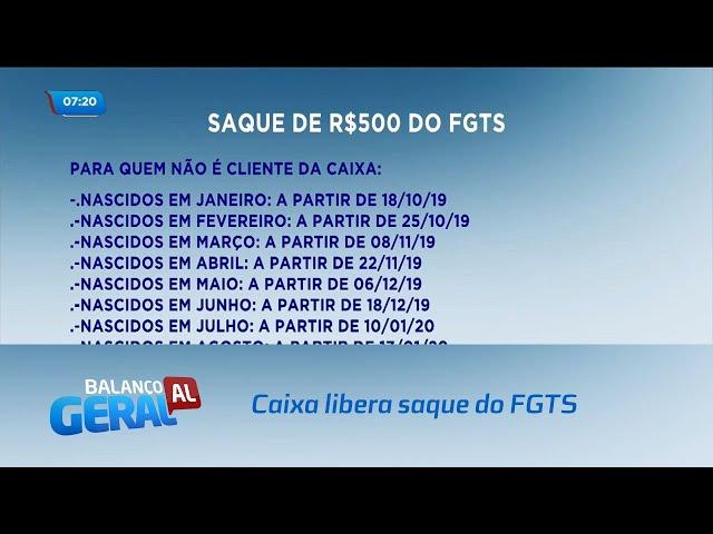 Caixa libera nesta sexta-feira o saque de R$ 500 do FGTS
