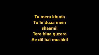 Ae Dil Hai Mushkil - Karaoke With Lyrics |Free download
