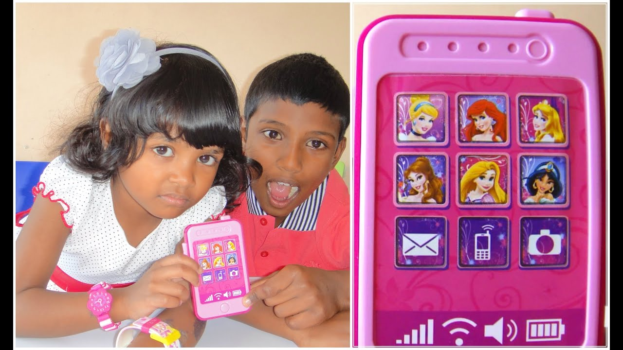Disney Princess Toy Phone : Disney princess toy phone for kids 子供のためのディズニーの携帯電話