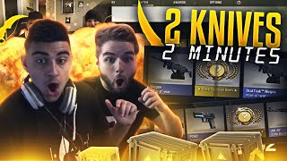 CSGO - 2 KNIVES IN 2 MINUTES - INSANE CASE OPENING!!
