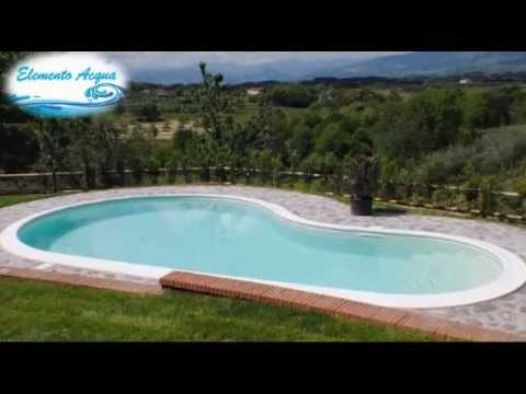 Costruzione piscine interrate sfioro skimmer e cascata youtube - Foto piscine interrate ...