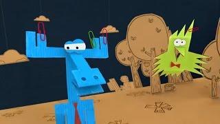 Бумажки все серии подряд. Большой сборник мультиков про оригами для детей. Серии 41- 50