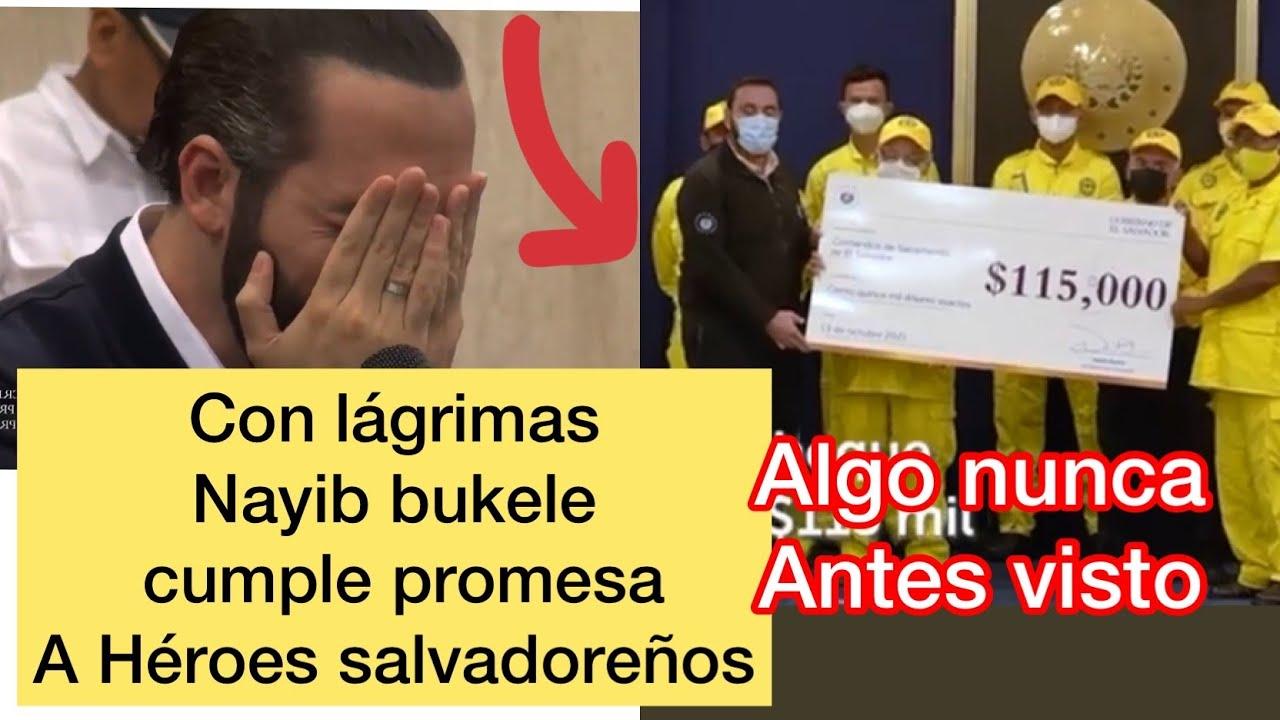 Nayib bukele cumple promesa a abuelito y le regala un donativo