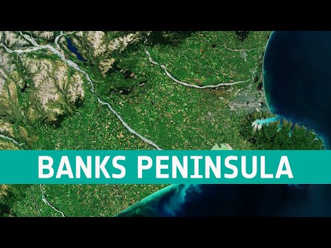 Earth from Space: Banks Peninsula, New Zealand
