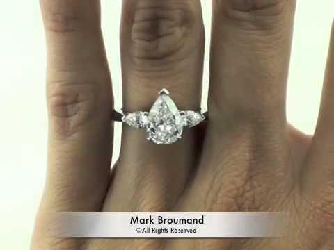 250ct pear shape diamond engagement anniversary ring