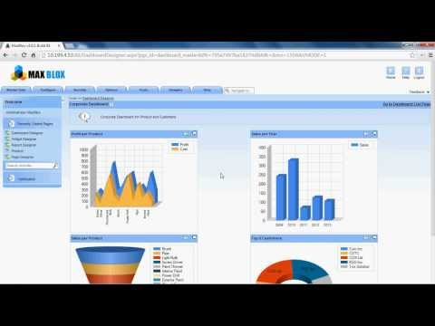 Create Dashboards on the web using MaxBlox