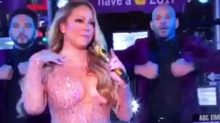 Mariah Carey FAILS ON LIVE TV NEW YEARS EVE SHOW 2017 * HD