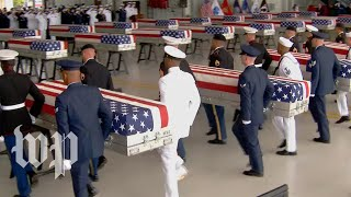 'Today our boys are coming home': Possible Korean War remains arrive in Hawaii