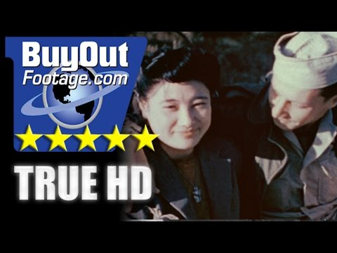 HD Historic Stock Footage Post WWII Color ALLIED OCCUPATION OF JAPAN | LIFE IN TOKYO