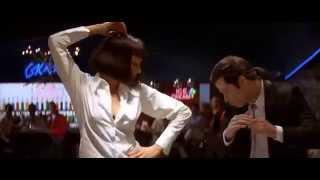 "Ума Турман. Джон Траволта. Танец. ""Криминальное чтиво"" Квентин Тарантино."