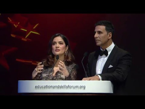 Global Teacher Prize 2016: Prize Announcement with Pope Francis and Salma Hayek (GESF 2016)