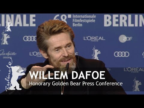 Honorary Golden Bear for Willem Dafoe | Press Conference | Berlinale 2018