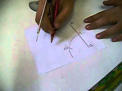 how to draw 30 degree angle with compass