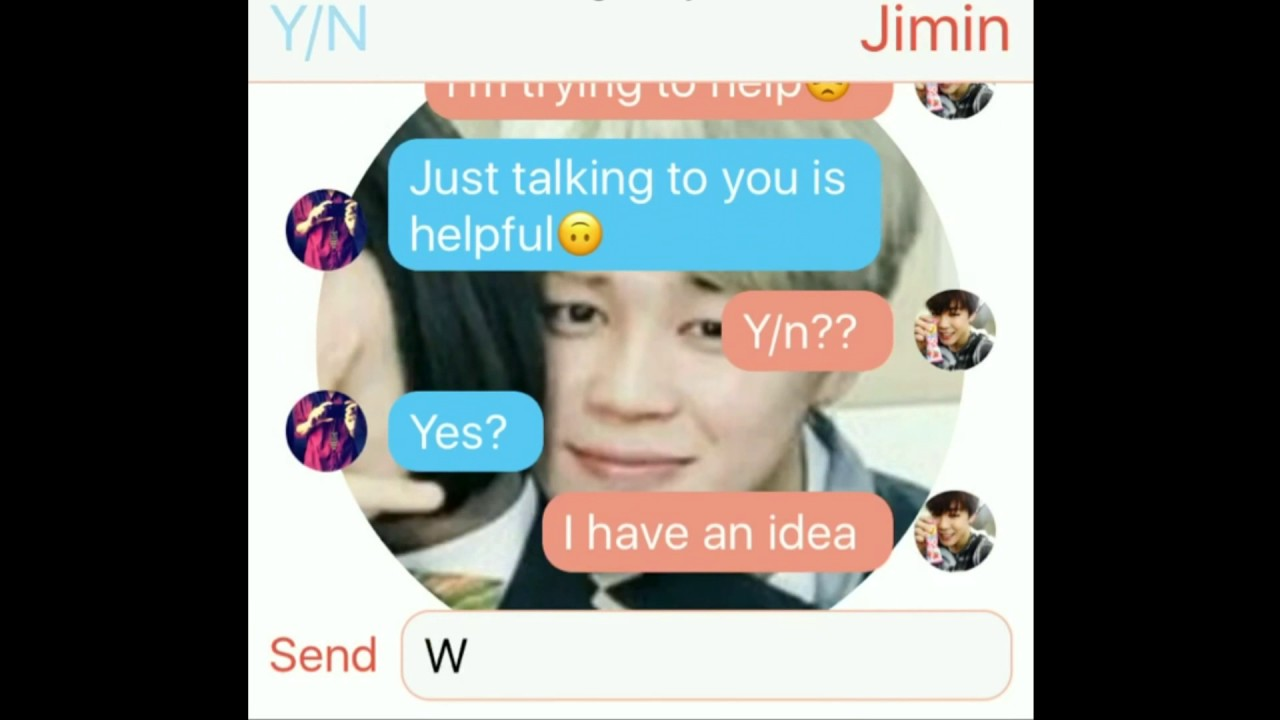 BTS Jimin Imagine - Texting on your period