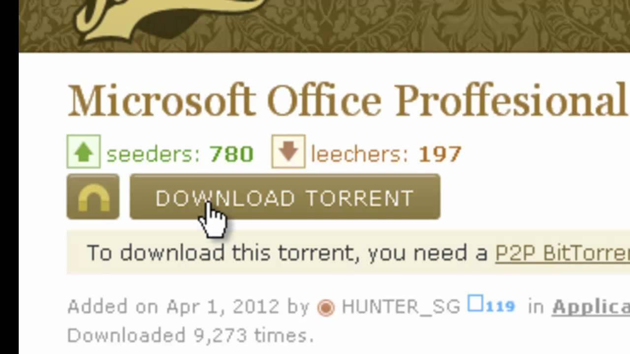 utorrent microsoft office