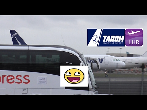 Photobombed by National Express | Tarom Flight 392 (LHR to Bucharest)