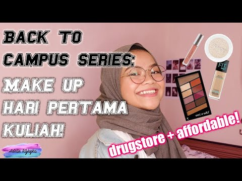 BACK TO CAMPUS: DRUGSTORE + AFFORDABLE MAKEUP FOR FIRST DAY OF CAMPUS   Indonesia   Adelin Rizkyka