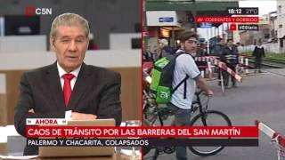 Caos de transito por el tren San Martín thumbnail