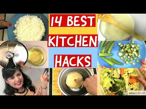14 Best Kitchen Tips & Trick 14 Time Saving & Useful Indian Kitchen Hack 14 Best Kitchen Hacks Hindi
