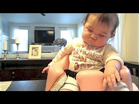 Baby falls asleep on bumbo!