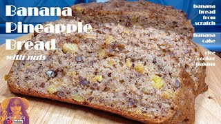 Banana Pineapple Bread Recipe With Nuts From Scratch | Banana Cake | EASY RICE COOKER CAKE RECIPES