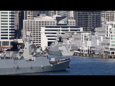 Chinese Warships Visit New Zealand 2017