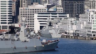 Chinese Warships Visit New Zealand 2017