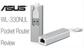 ASUS WL-330NUL Pocket WiFi Router Review, The World's Smallest Router!