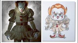 Horror movie Characters in Kid's Cartoon ( Cute version)
