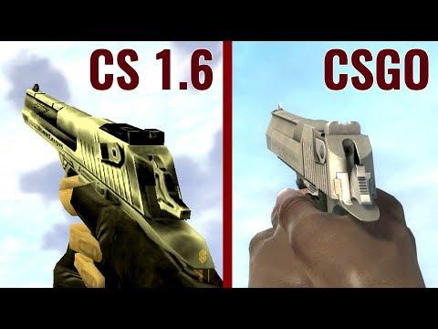 CSGO vs CS 1.6 - Weapon Comparison