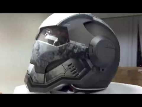 Masei 610 Gray War Machine Looking Motorcycle Harley Helmet Review