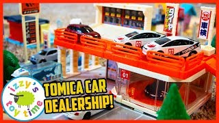 CARS FOR KIDS! TOMY TOMICA CAR DEALERSHIP With Hot Wheels!