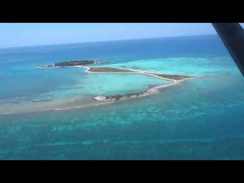 Flying in by sea plan into Fort Jefferson Florida