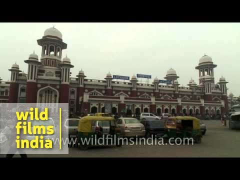 Panoramic view of Charbagh Railway Station at Lucknow