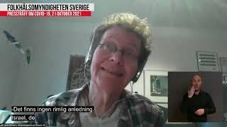 Presskonferens Folkhälsomyndigheten 2021-10-21 | Lena Einhorn