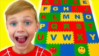 Canción sobre el alfabeto inglés ABC. Dolguniki -Canciones infantiles