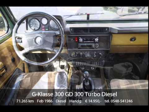 mercedes benz g 300 gd 300 turbo diesel bj 1986 youtube. Black Bedroom Furniture Sets. Home Design Ideas