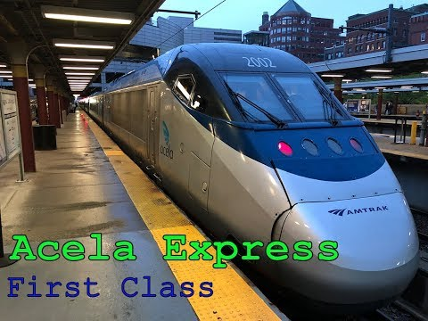 AMTRAK ACELA EXPRESS - America's Highspeed Train | First Class | Trip report