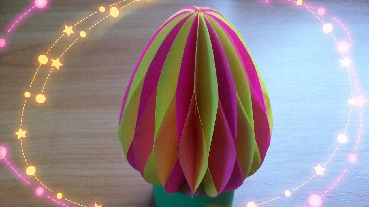 easter paper eggs 3d crafts diy