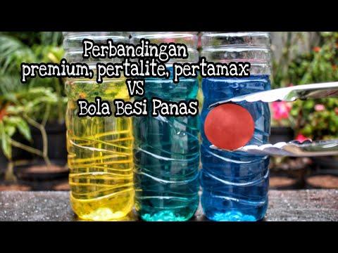 Perbandingan Premium, Pertalite, Pertamax VS bola besi panas..